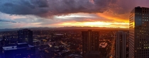 Denver Colorado United States  Sunset from the clock tower last night