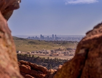 Denver skyline from Red Rocks Amphitheatre