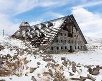 Derelict astronomy lab on Mount Aragats Armenia by tobysmithcom