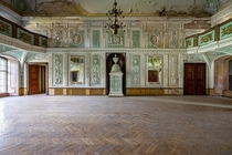 Derelict ballroom found in a huge abandoned luxury castle in Poland