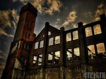 Derelict factory which use to produce bicycles in  destroyed by arson and bad storms