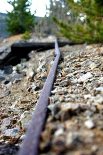 Derelict Mine Car Rail - Indian Peaks Wilderness CO