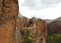Descending Angels Landing Zion OC