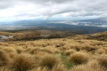 Descent from Tongariro Crossing New Zealand