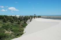Desert Oasis and Sea  Lenis Maranhenses National Park Brazil