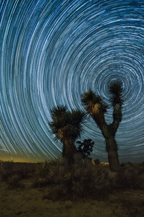 Desert Pinwheel -  Hours of Earths Rotation near Cantil CA