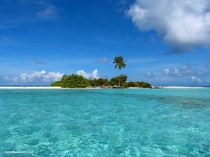 Deserted Island in South Ari Atoll Maldives