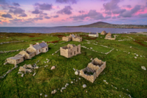 Deserted village on an island off the coast of Ireland