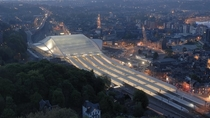 Designed by Santiago Calatrava Lige-Guillemins railway station is the main station of Lige in Belgium