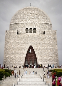 Designed to resemble the Jinnah Cap The Mazar-e-Quaid Karachi