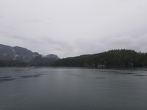 Desolation Sound BC on an overcast day