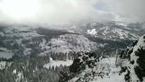 Desolation Wilderness from Ellis Peak Just After a Snow Storm