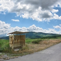 Destination to Nowhere Abandoned bus stop Photo by Borislav Dimitrov