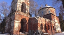 Destroyed Church in Pankovo Vladimir region Russia