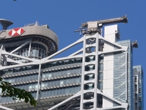 Detail atop HSBC Building  Hong Kong Designed by Sir Norman Foster and completed in