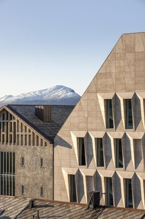 Detail of Bod Town Hall Norway designed by Atelier Lorentzen Langkilde