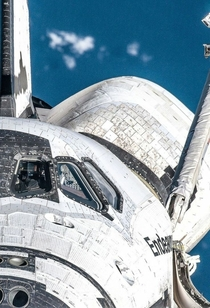 Detailed close up to Space Shuttle Endeavour