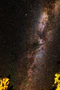 Detailed Milky Way with Andromeda Galaxy from Colorado -  minute single exposure