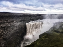 Detifoss in Iceland is Europes most powerful waterfall and was used in the opening scene for the film Prometheus