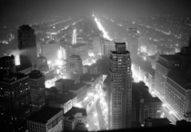 Detroit and the industrial region surrounding it during a blackout drill on May