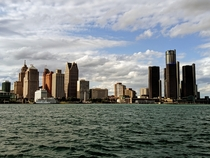 Detroit Michigan - view from Windsor Canada