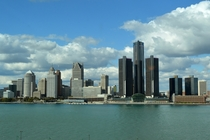 Detroit USA Taken From Windsor Canada