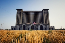Detroits long abandoned Michigan Central Station before Fords renovations began