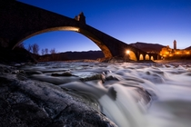 Devils Bridge in Bobbio Piacenza northern Italy  xpost from rItalyPhotos