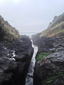 Devils Churn on the Oregon Coast