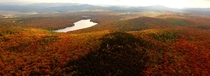 Devils Hill Vermont fall foliage