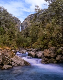 Devils Punchbowl Falls Arthurs Pass National Park New Zealand