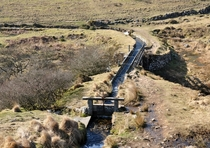 Devonport Leat viaduct over the River Meavy on Dartmoor England