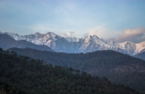Dhauladhar Range as seen from Palampur Himachal Pradesh
