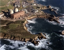 Diablo Canyon nuclear power plant in a stunning cliffside location in California