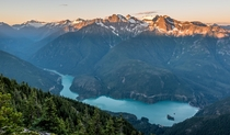 Diablo Lake from Sourdough mountain North Cascades Washington