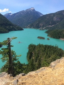 Diablo Lake in Ross Lake National Recreation Area WA Same area as North Cascades NP