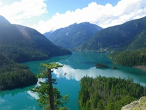 Diablo Lake in the North Cascades Washington