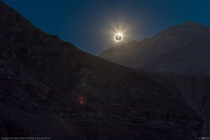 Diamond Ring during Wednesdays total solar eclipse in Chile HDR from  exposures Took tons of planning to get this one