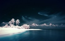 Diggiri Island Maldives in infrared light  photo by Nxxos