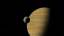 Digital Art Gas Giant and Moon