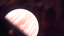Digital painting of a planet within a nebula that I made