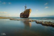 Dimitrios stranded shipwreck near Gythio Greece  by Panos Lahanas