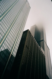 Disappearing Tower in Chicago Shot on film