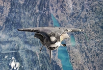Discovery over the Lakes in western Switzerland near the border of France Photographed from ISS