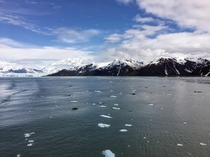 Disenchantment Bay AK Hubbard Glacier on the left