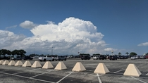 Distant Cumulonimbus - taken in the parking lot of Sea World