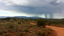 Distant rain in Sedona AZ