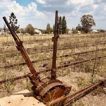 Disused railway on the boarder of New South Wales and Queensland Australia