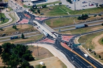 Diverging Diamond Interchange I- and MO- in Springfield MO ca  - It is the first DDI ever built in the United States and to this day there are  currently in operation in this country alone and still counting
