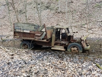 Dodge Pilothouse Dump Truck Stuck in the Mud